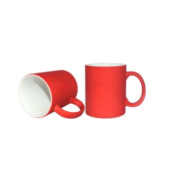 Personalised Neon Coated Mug - Reddish Orange